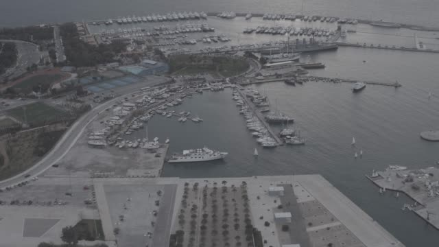 Raw footage - Aerial - Drone - flying into Faliro Bay - Athens, Greece, 3 of 4 video