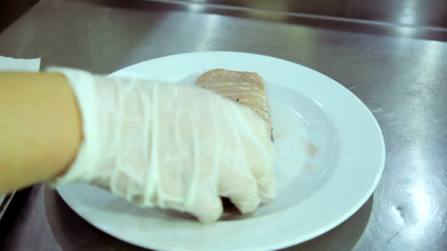 Raw meat duck breast video