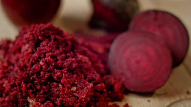 Raw red beetroot video