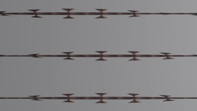 かみそりワイヤーループ 05 - 尖っている点の映像素材/bロール