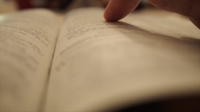 Reading And Studying Bible video