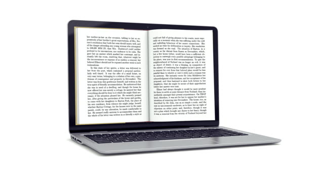 stockvideo's en b-roll-footage met reading electronic books. white version. - pagina