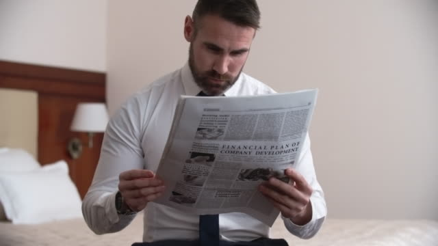 Reading Financial Newspaper video