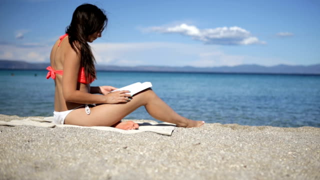 Reading on the beach video