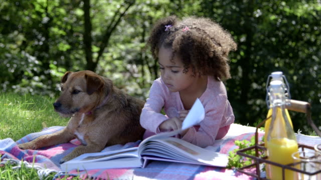 Reading with her pup video