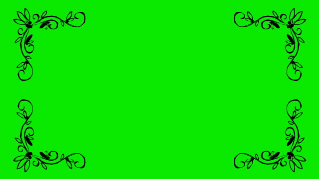 Real Animated Cartoon of Leaves Shaped Border Corners on a Green Screen Background Real Animated Cartoon of Leaves Shaped Border Corners on a Green Screen Background uk border stock videos & royalty-free footage
