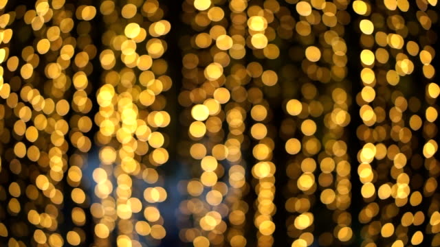 real bokeh lights from small led lighting decoration for christmas and new year celebration - bokeh stock videos & royalty-free footage