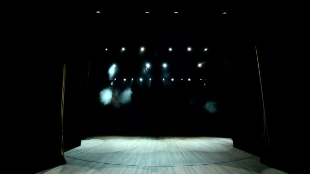 Real cloth stage curtain open. Curtain for theater, opera, show, stage scenes.