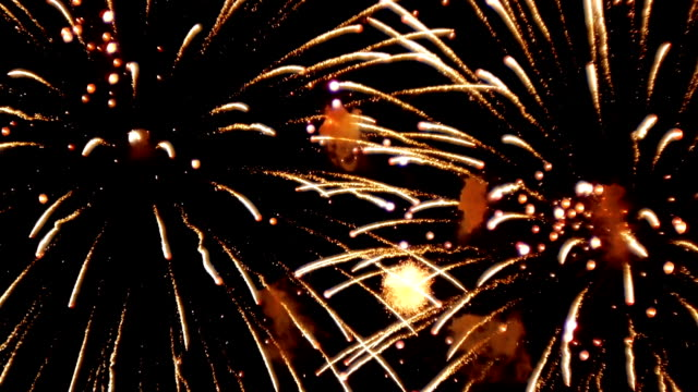 Real colourful Fireworks display Real colourful Fireworks in night sky. HD. bastille day stock videos & royalty-free footage