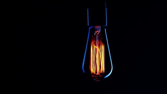 Real Edison light bulb flickering. video