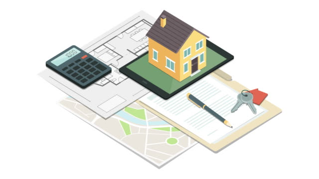 vídeos y material grabado en eventos de stock de bienes raíces y seguros de hogar - hipotecas y préstamos