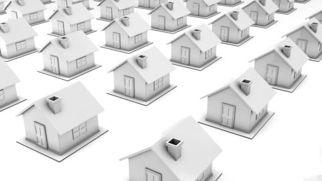 vídeos y material grabado en eventos de stock de concepto de bienes raíces/en bucle/elegir el hogar - hipotecas y préstamos