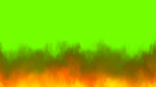 real fire flames på chroma nyckel, grön skärm bakgrund - flames bildbanksvideor och videomaterial från bakom kulisserna
