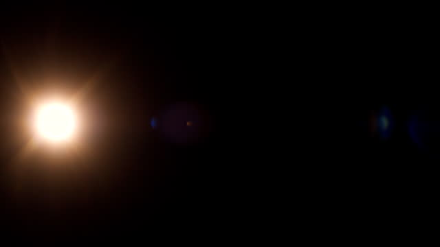 Real lens flare 28mm center warm video