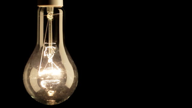 Real light bulb flickering. video