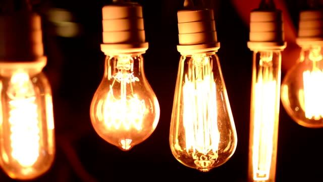 Real light bulb video