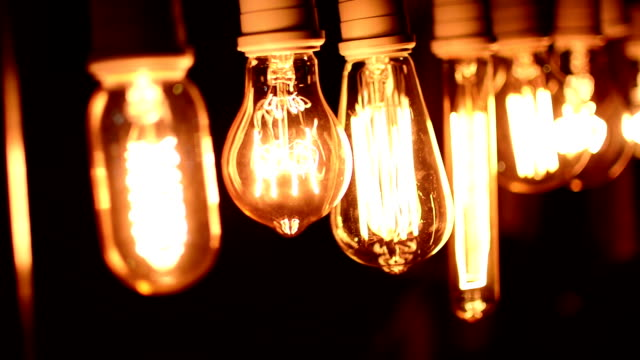Real light bulb Real light bulb tungsten image stock videos & royalty-free footage