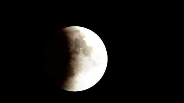 Real Moon Eclipse Timelapse of September 28th, 2015 near Montreal with a few Clouds video