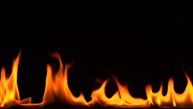 Real orange clean flame background filmed in super slow motion