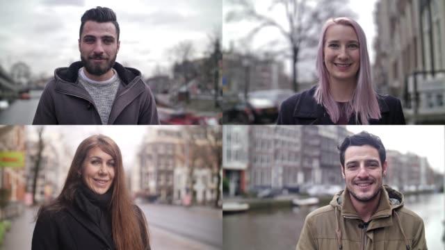 vidéos et rushes de vrais gens souriant en slow motion - image composite numérique