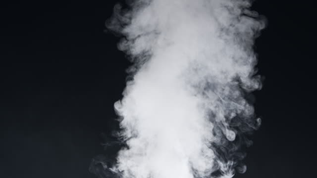 SLO MO Real smoke over black background video