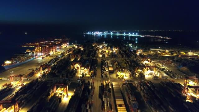 Real Time Aerial view of Shanghai Yangshan deepwater port video