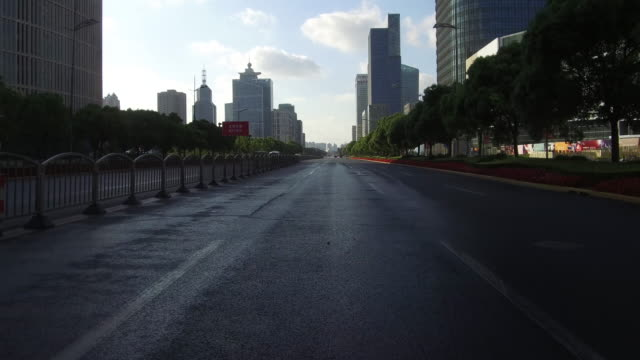 Real time auto rijden in het financiële district lujiazui Shanghai, China video