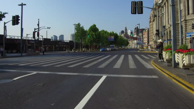 Real time Car driving on the bund,Shanghai,China video