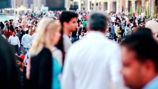 Real time crowd people walking
