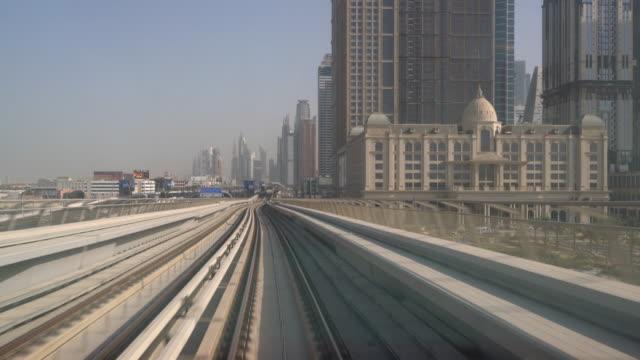 Real Time Metro Riding Through Downtown Dubai video