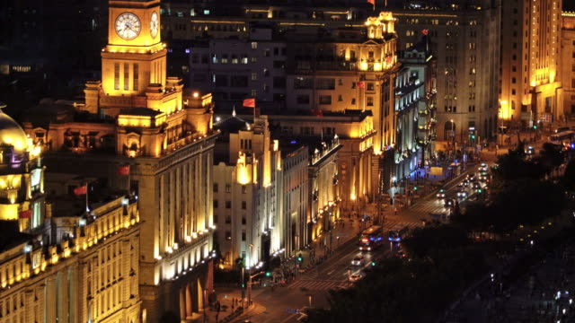 Real time The busy traffic in the bund,shanghai video