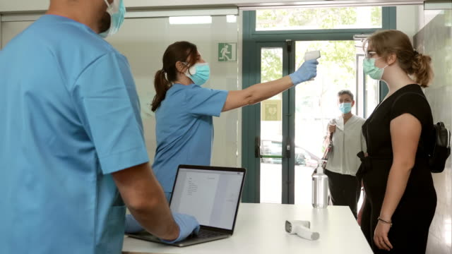 Real time video of pandemic control measures in Hospital entrance