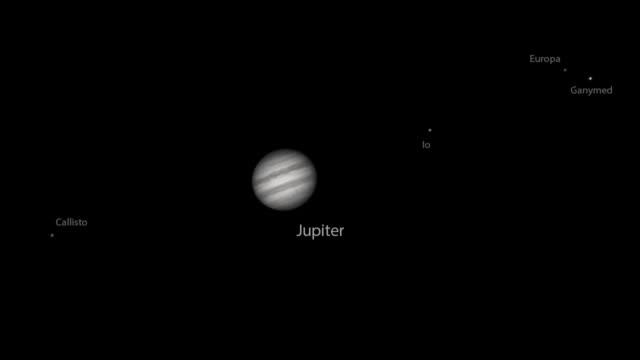 real timelapse of planet jupiter and moons - io księżyc filmów i materiałów b-roll