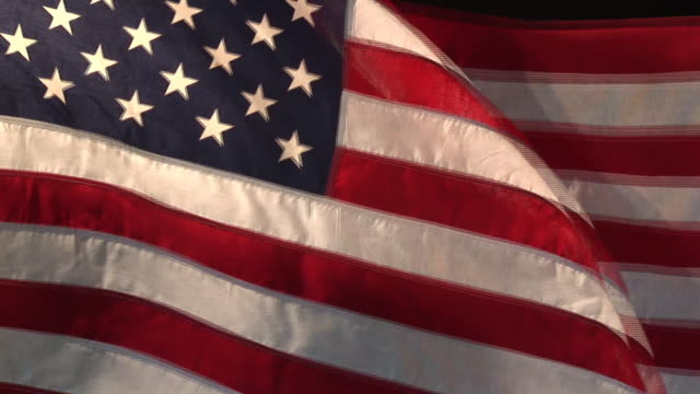 Real US American Flag 02 (HD)  circa 4th century stock videos & royalty-free footage