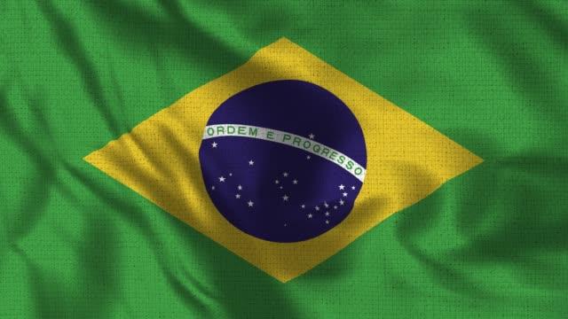 Bandeira de 4K - 30 fps realista do Brasil - vídeo