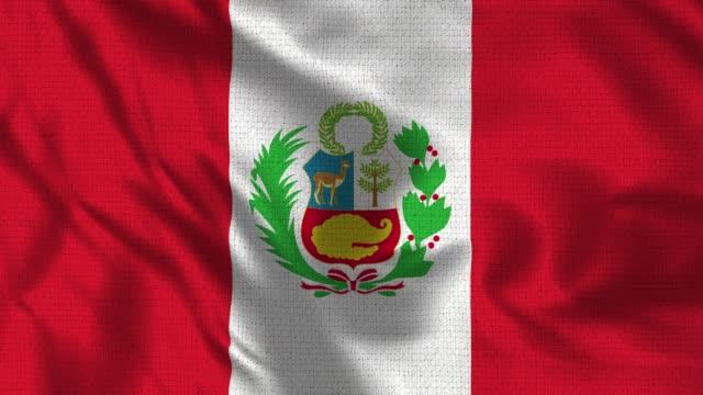 Bandera realista de 4K de 30 fps del Perú - vídeo