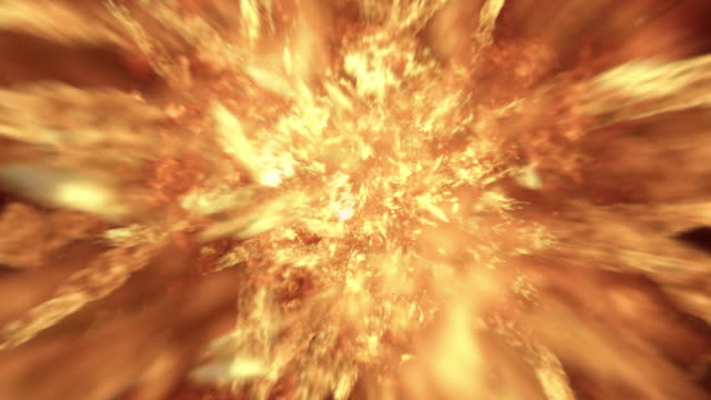 Realistic 4K Fireball Explosion video