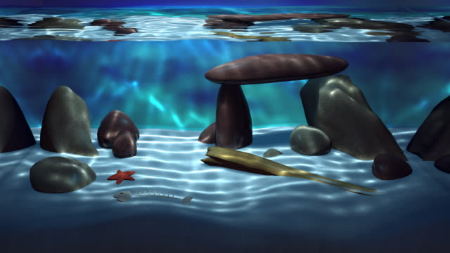 3D Realistic Aquarium loop影片