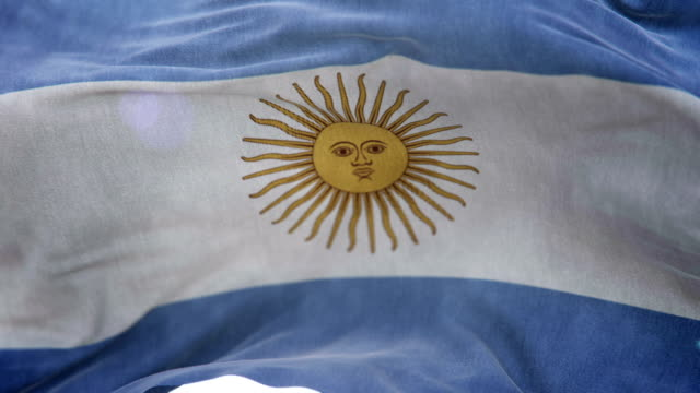 Realistic Argentina Flag 3d animation loop video