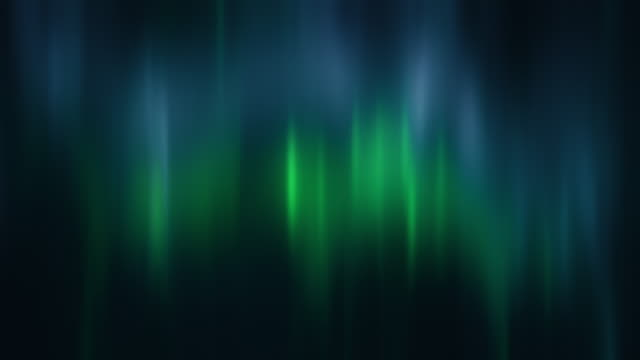 realistic bright green and blue aurora borealis, northern lights seamless loop - flare video stock e b–roll