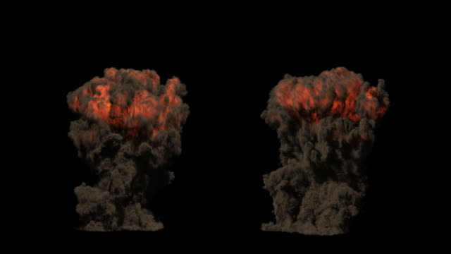 Realistic CG Explosions. Includes Alpha Channel. 4K DCI Format. video