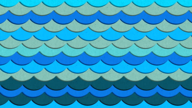 Realistic conceptual colorful paper texture waves illustration loop animation with alpha mask Realistic conceptual colorful paper texture waves illustration loop animation with alpha mask. dark blue stock videos & royalty-free footage