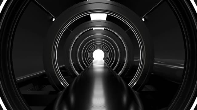 realistic dark night spaceship sci-fi corridor