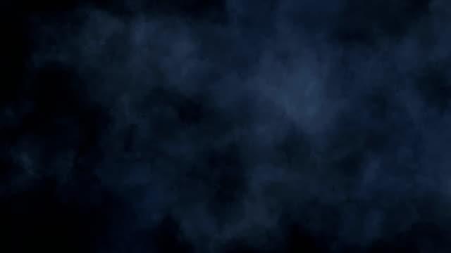 現実的な漂流煙雲霧オーバーレイ - 黒色点の映像素材/bロール
