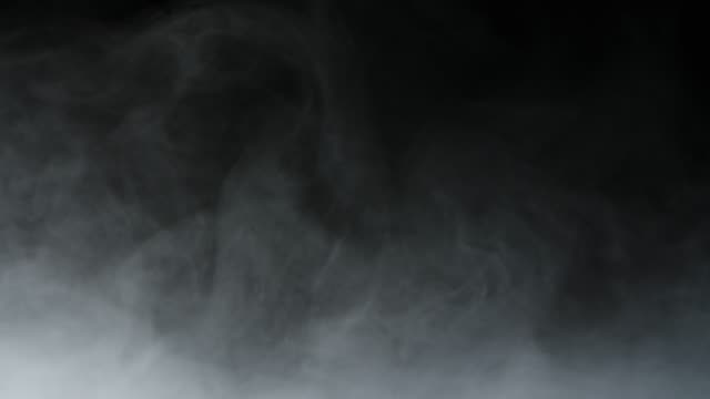 realistic dry ice smoke clouds fog overlay - nebbia video stock e b–roll