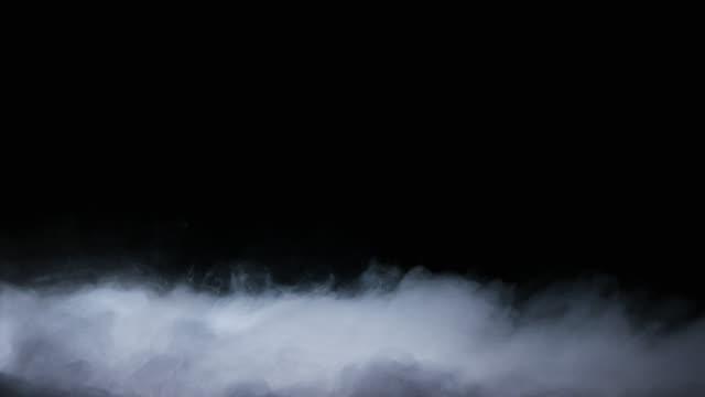 realistische trockeneis rauchwolken nebel overlay - nebel stock-videos und b-roll-filmmaterial