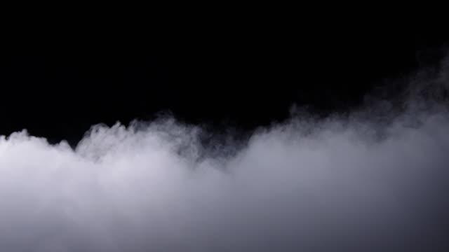 реалистичный сухой ледяной дым облака туман - дым стоковые видео и кадры b-roll