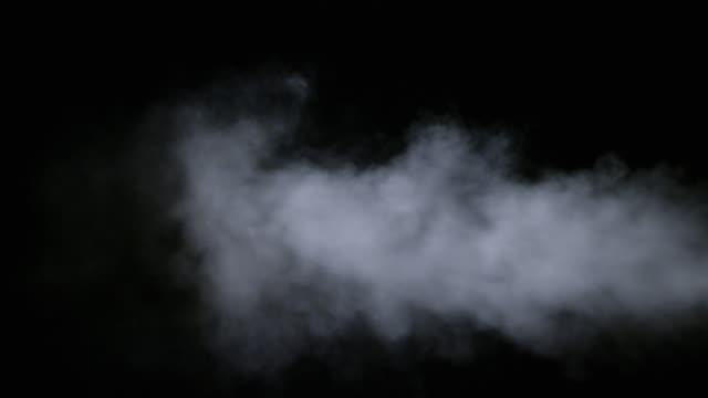 realistic dry smoke clouds fog - traccia video stock e b–roll