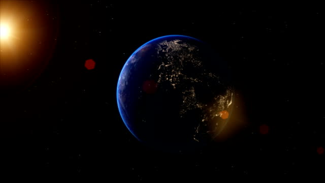 Realistic Earth Globe Zoom and Dock on South America video