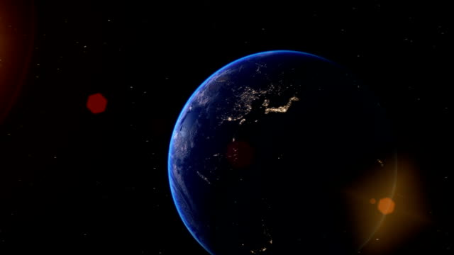Realistic Earth Globe Zoom and Dock on West Africa video